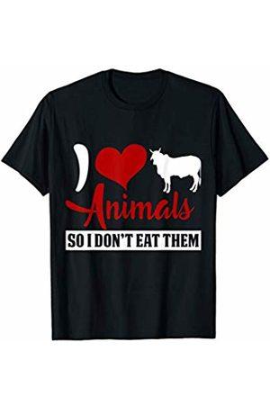 BBP Designs Funny Vegan Shirt I Love Animals so I dont eat them Vegan T-Shirt