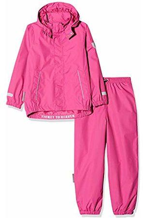 Ticket to Heaven Girl's Regenanzug 2tlg. Plain M. Abnehmbarer Kapuze Snowsuit, (Raspberry Rose|