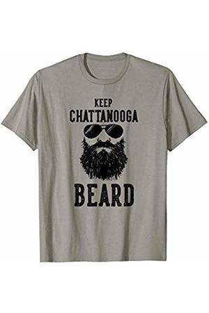 Robot Basecamp Funny Joke T-Shirts Keep Chattanooga Tennessee BEARD Funny Hipster Retro T-Shirt