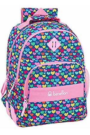 "Safta Benetton School Backpack""Cuori"" Official"
