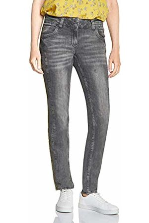 Cecil Women's 372456 Scarlett Loose Fit Straight Jeans, (Mid Used wash 10316)