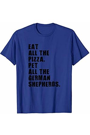Swesly Dog Eat All The Pizza Pet All The German Shepherds ADB119i T-Shirt