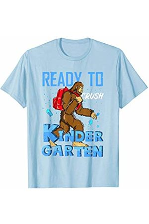 Back To School Apparel by BUBL TEES Ready To Crush Kindergarten Bigfoot Sasquach Back To School T-Shirt