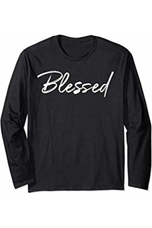 P37 Design Studio Jesus Shirts Christian Blessings Quote for Women Cute Blessed Long Sleeve T-Shirt