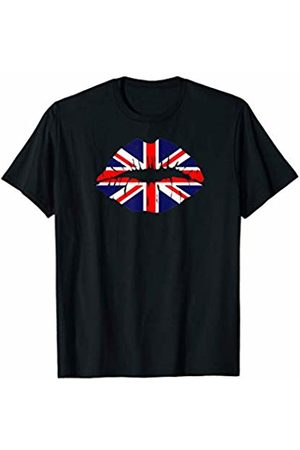 World Flag Country Cool Fan Tee Gift England T-Shirt Flag Kiss Lips I English Sports Jersey T-Shirt