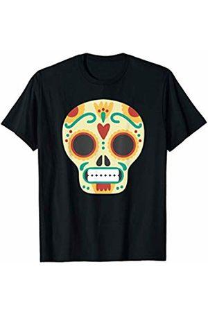 Costune Halloween Costumes Shirt Men Women Kids Sugar Skull Flowers Day Of The Dead Scary Creepy Halloween T-Shirt