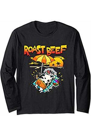 Wowsome! Roast Beef Cow On Beach Vacation Sun Tan Kids Men Women Long Sleeve T-Shirt