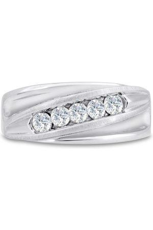 SuperJeweler Men's 3/5 Carat Diamond Wedding Band in 14K , G-H, I2-I3, 9.50mm Wide