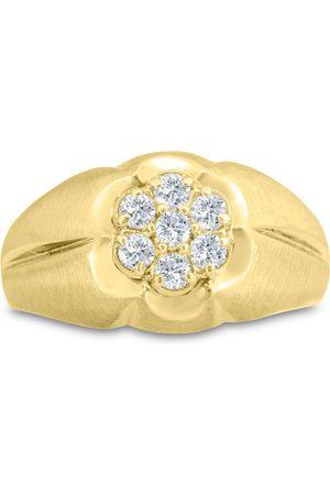 SuperJeweler Men Rings - Men's 1/2 Carat Diamond Wedding Band in 14K , G-H, I2-I3, 12.79mm Wide