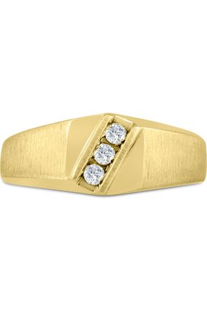 SuperJeweler Men's 1/10 Carat Diamond Wedding Band in 10K , I-J-K, I1-I2, 9.10mm Wide
