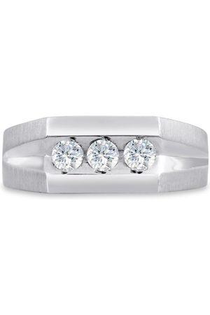 SuperJeweler Men's 1/2 Carat Diamond Wedding Band in 14K , G-H, I2-I3, 8.70mm Wide
