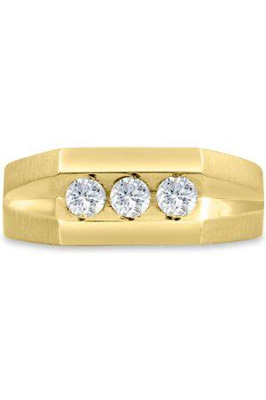 SuperJeweler Men's 1/2 Carat Diamond Wedding Band in 14K , I-J-K, I1-I2, 8.70mm Wide