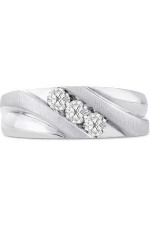 SuperJeweler Men's 1/2 Carat Diamond Wedding Band in 10K , G-H, I2-I3, 8.12mm Wide