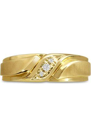 SuperJeweler Men's 1/10 Carat Diamond Wedding Band in 10K , G-H, I2-I3, 7.04mm Wide