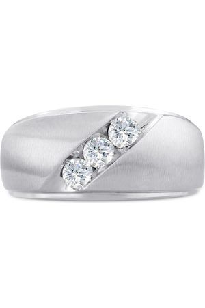 SuperJeweler Men's 1/2 Carat Diamond Wedding Band in 10K , G-H, I2-I3, 11.02mm Wide