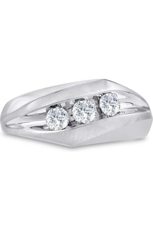 SuperJeweler Men's 1/2 Carat Diamond Wedding Band in 14K , G-H, I2-I3, 9.64mm Wide