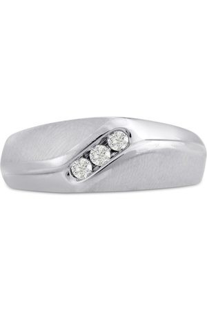 SuperJeweler Men's 1/10 Carat Diamond Wedding Band in 10K , I-J-K, I1-I2, 8.25mm Wide