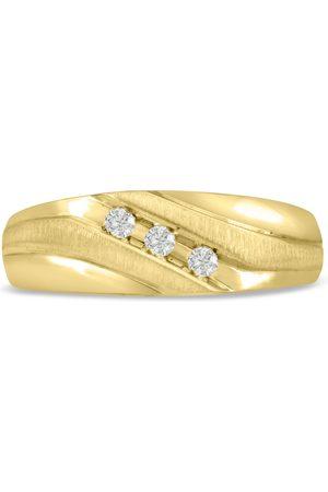 SuperJeweler Men's 1/10 Carat Diamond Wedding Band in 10K , I-J-K, I1-I2, 7.60mm Wide