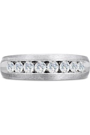 SuperJeweler Men's 3/4 Carat Diamond Wedding Band in 10K , G-H, I2-I3, 6.78mm Wide