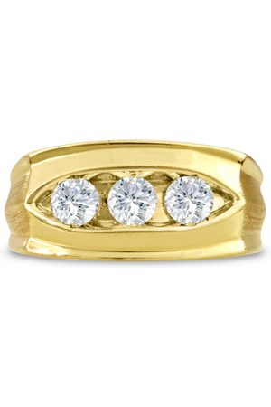 SuperJeweler Men's 1 Carat Diamond Wedding Band in 14K , G-H, I2-I3, 10.46mm Wide
