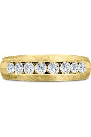 SuperJeweler Men's 3/4 Carat Diamond Wedding Band in 14K , G-H, I2-I3, 6.78mm Wide