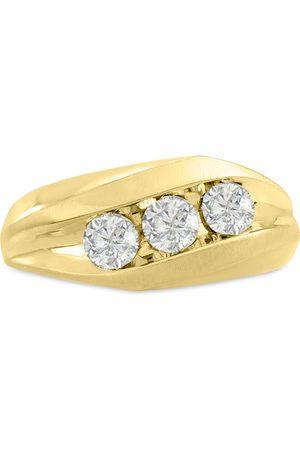 SuperJeweler Men's 1 Carat Diamond Wedding Band in 14K , G-H, I2-I3, 9.85mm Wide