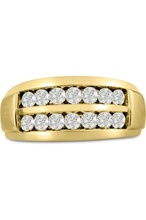 SuperJeweler Men's 1 Carat Diamond Wedding Band in 10K , I-J-K, I1-I2, 10.56mm Wide