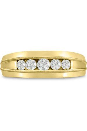 SuperJeweler Men's 1/2 Carat Diamond Wedding Band in 14K , G-H, I2-I3, 7.34mm Wide