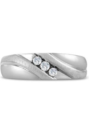 SuperJeweler Men's 1/10 Carat Diamond Wedding Band in 10K , I-J-K, I1-I2, 7.09mm Wide
