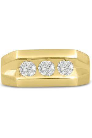 SuperJeweler Men's 1 Carat Diamond Wedding Band in 14K , I-J-K, I1-I2, 9.49mm Wide
