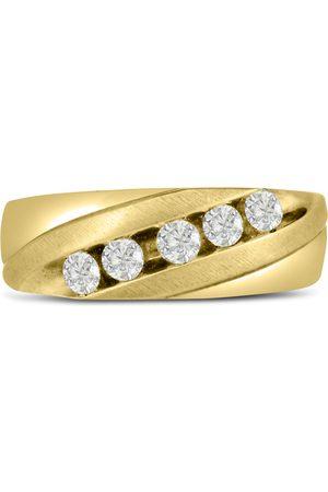 SuperJeweler Men's 1/2 Carat Diamond Wedding Band in 10K , I-J-K, I1-I2, 7.81mm Wide
