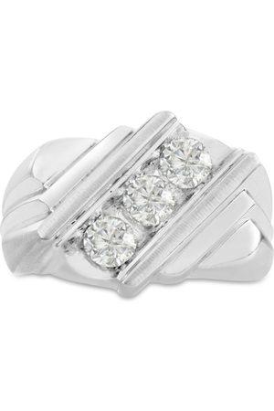 SuperJeweler Men's 1 Carat Diamond Wedding Band in 10K , I-J-K, I1-I2, 15.71mm Wide