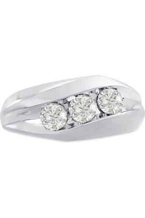 SuperJeweler Men's 1 Carat Diamond Wedding Band in 10K , G-H, I2-I3, 9.85mm Wide