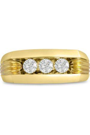 SuperJeweler Men's 1/2 Carat Diamond Wedding Band in 10K , G-H, I2-I3, 9.01mm Wide