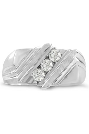 SuperJeweler Men's 1/4 Carat Diamond Wedding Band in 14K , I-J-K, I1-I2, 10.19mm Wide