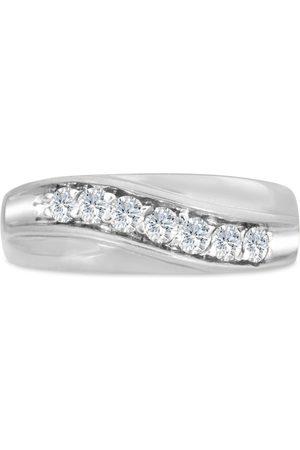 SuperJeweler Men's 1/2 Carat Diamond Wedding Band in 14K , I-J-K, I1-I2, 7.63mm Wide