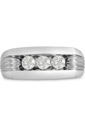 SuperJeweler Men's 1/2 Carat Diamond Wedding Band in 14K , G-H, I2-I3, 9.01mm Wide