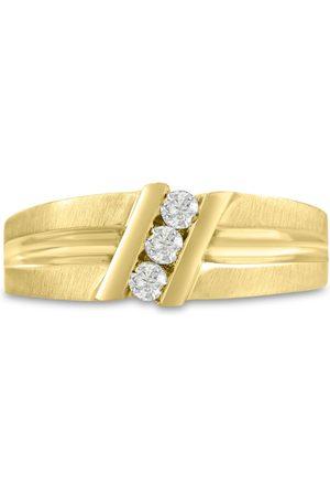 SuperJeweler Men's 1/4 Carat Diamond Wedding Band in 14K , G-H, I2-I3, 8.29mm Wide