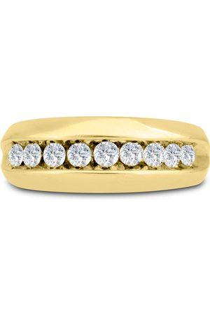 SuperJeweler Men's 1 Carat Diamond Wedding Band in 14K , G-H, I2-I3, 8.42mm Wide