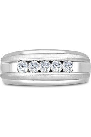 SuperJeweler Men's 1/2 Carat Diamond Wedding Band in 14K , I-J-K, I1-I2, 9.0mm Wide