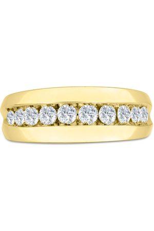 SuperJeweler Men's 1 Carat Diamond Wedding Band in 10K , G-H, I2-I3, 8.66mm Wide
