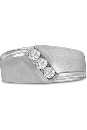 SuperJeweler Men's 1/3 Carat Diamond Wedding Band in 10K , G-H, I2-I3, 10.19mm Wide