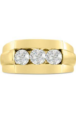 SuperJeweler Men's 1 Carat Diamond Wedding Band in 14K , I-J-K, I1-I2, 10.61mm Wide
