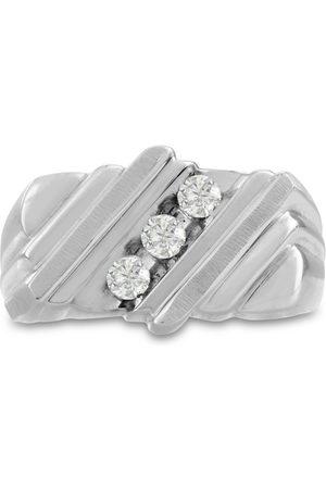 SuperJeweler Men's 1/2 Carat Diamond Wedding Band in 14K , I-J-K, I1-I2, 12.16mm Wide