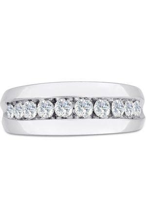 SuperJeweler Men's 1 Carat Diamond Wedding Band in 14K , G-H, I2-I3, 8.66mm Wide