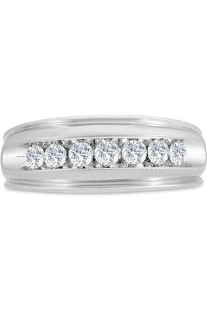 SuperJeweler Men's 1/2 Carat Diamond Wedding Band in 14K , I-J-K, I1-I2, 8.52mm Wide