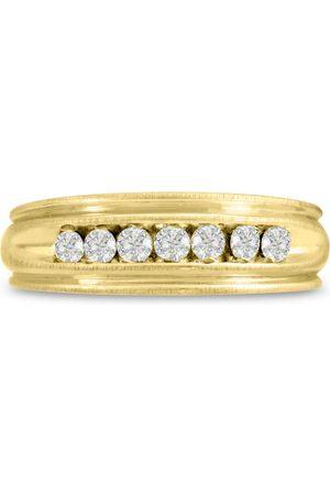SuperJeweler Men's 1/4 Carat Diamond Wedding Band in 10K , G-H, I2-I3, 6.47mm Wide