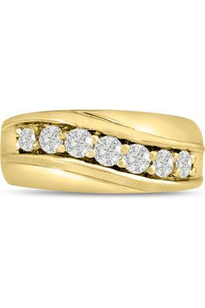 SuperJeweler Men's 1 Carat Diamond Wedding Band in 14K , G-H, I2-I3, 9.88mm Wide