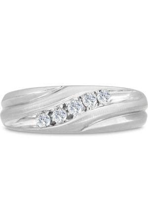 SuperJeweler Men's 1/4 Carat Diamond Wedding Band in 10K , I-J-K, I1-I2, 7.51mm Wide