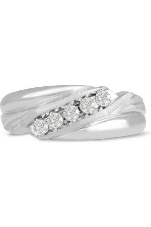 SuperJeweler Men's 1/3 Carat Diamond Wedding Band in 10K , G-H, I2-I3, 8.47mm Wide